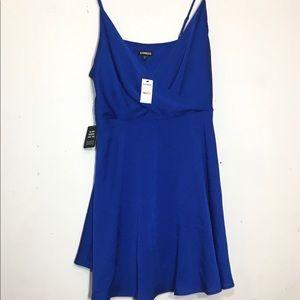 Express NWT Dress royal blue spaghetti strap sz L